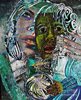 People Mixed Media - Mother And Child by Sarah Loft
