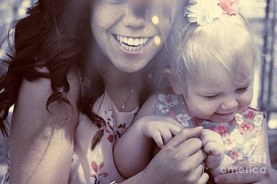 Mother And Daughter Laughing Together Outdoors Print by Jorgo Photography - Wall Art Gallery