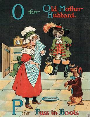 Mother Hubbard And Puss In Boots Original by Reynold Jay