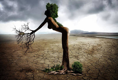 Dry Lake Digital Art - Mother Nature by Mountain Dreams