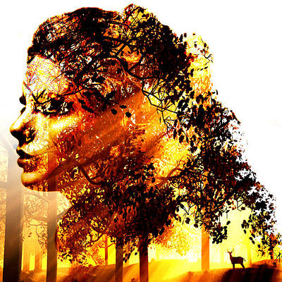 Blend Digital Art - Mother Nature by Marian Voicu