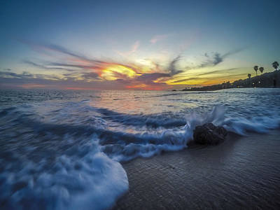 Beach Landscape Photograph - Mother Natures Fireworks by Sean Foster