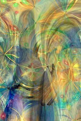 Abstarct Digital Art - Mother Of Angels by Linda Sannuti