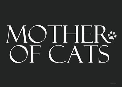 Mother Of Cats- By Linda Woods Print by Linda Woods