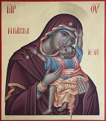 Painting - Mother Of God Kardiotisa by Daniel Neculae