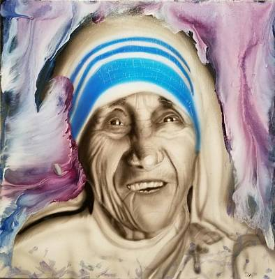 Mother Teresa  Print by Daniel Gutierrez