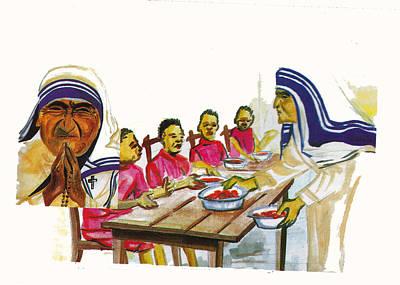 Mother Teresa Print by Emmanuel Baliyanga