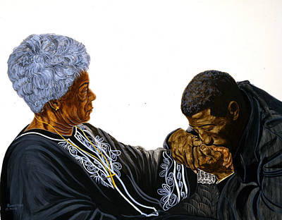 Dee Painting - Mothers Love by Roger W Price