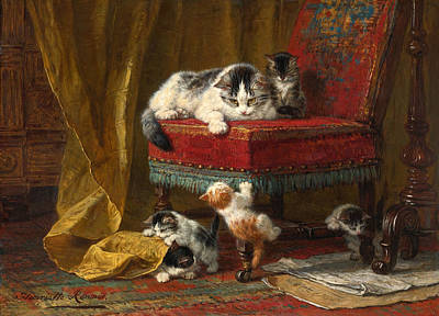 Henriette Ronner-knip Painting - Mother's Pride by Henriette Ronner-Knip