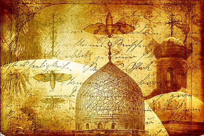 Moths And Mosques Print by Tammy Wetzel