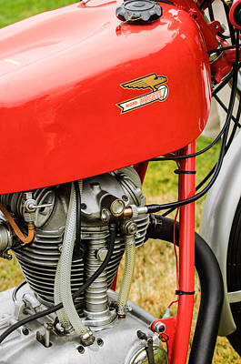 Bicycle Photograph - Moto Ducati Motorcycle -2115c by Jill Reger