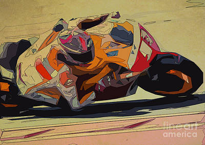 Moto Gp 93 For Men Office Print by Pablo Franchi