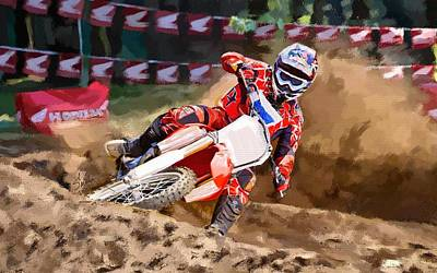 Spokes Painting - Moto-x by Robert Smith