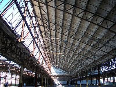 Motor Plant Ceiling And Skylights Print by Edmund Akers