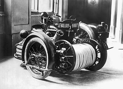 Introduction Photograph - Motorcyle Fire Engine by Underwood Archives