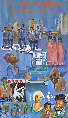 African-american Painting - Motown Commemorative 50th Anniversary by Kenji Lauren Tanner