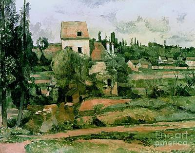 Rooftops Painting - Moulin De La Couleuvre At Pontoise by Paul Cezanne