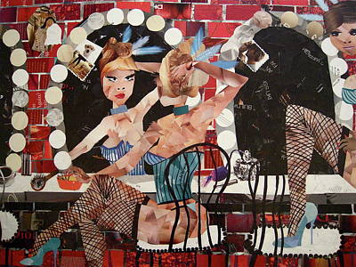 Decoupage Painting - Moulin Rouge by Blair Barbour