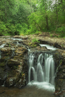 Yacolt Falls Print by Angie Vogel