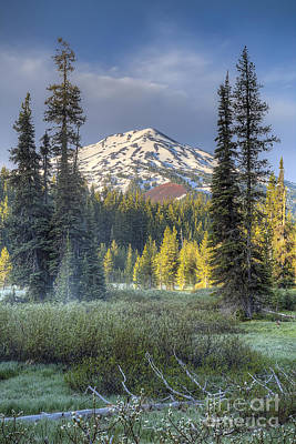 Sunriver Photograph - Mount Bachelor From Todd Lake by Twenty Two North Photography