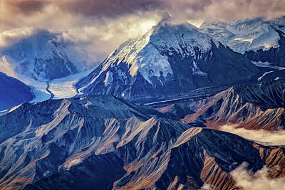 Mount Brooks From Above Print by Rick Berk