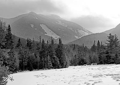 Mount Colden During Winter From Marcy Dam In The Adirondack Mountains Print by Brendan Reals