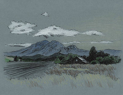Mount Diablo At Dusk Print by Masha Batkova