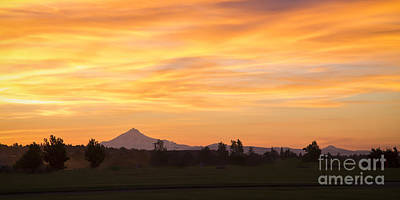 Oregon Photograph - Mount Jefferson At Sunset by Twenty Two North Photography