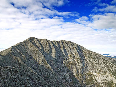Maine Landscapes Photograph - Mount Katahdin In Baxter State Park Maine by Brendan Reals