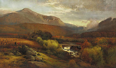 Painting - Mount Lafayette Franconia New Hampshire by William Hart