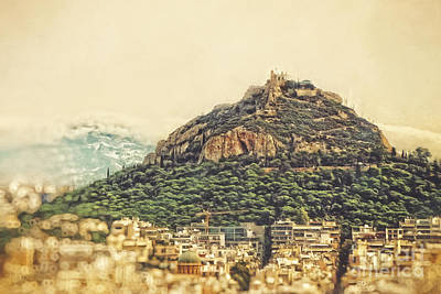 Acropolis Photograph - Mount Lycabettus by HD Connelly