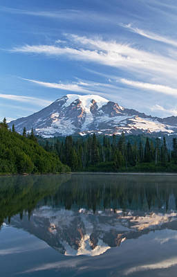 Greg Photograph - Mount Rainier Reflections by Greg Vaughn - Printscapes