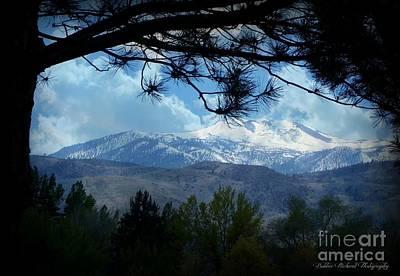 High Sierra Digital Art - Mount Rose Silhouette by Bobbee Rickard