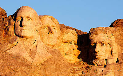 Lincoln Memorial Photograph - Mount Rushmore by Todd Klassy