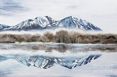 Mist Painting - Mount Si - Washington State by Jordan Parker