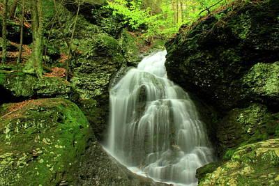 Mount Toby Roaring Falls Print by John Burk
