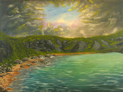 Bob Ross Painting - Mountain Cove by Vincent Keele
