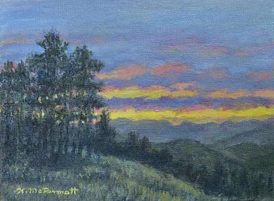 Great Smokey Mountains Painting - Mountain Dusk by Kathleen McDermott