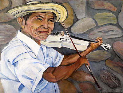 Mountain Fiddler Print by Marilyn McNish