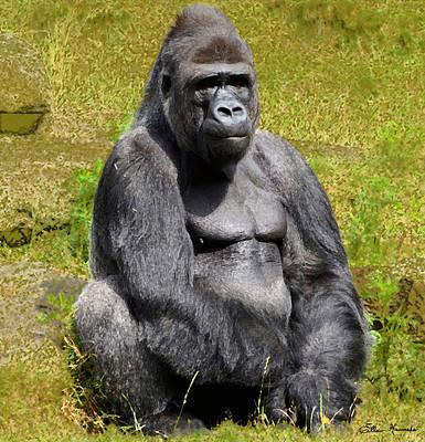 Gorilla Painting - Mountain Gorilla by Ellen Henneke
