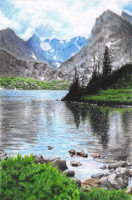 Mountain Lake Print by Nils Beasley