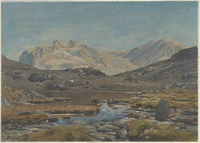 Mountain Landscape Print by Francois-louis Francais