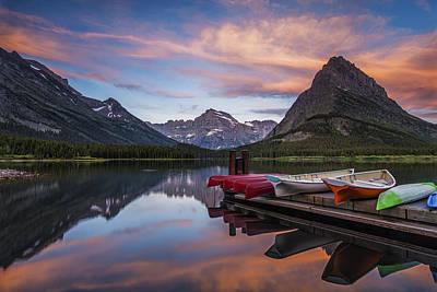 Canoe Photograph - Mountain Morning by Andrew Soundarajan