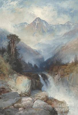 Natural Art Drawing - Mountain Of The Holy Cross by Thomas Moran