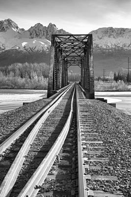 Railroad Bridge Photograph - Mountain Rail by Ed Boudreau