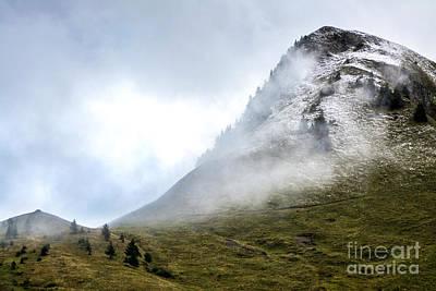 Fir Trees Photograph - Mountain Range Snow Covered by Bernard Jaubert