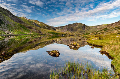 Mountain Reflection Print by Adrian Evans