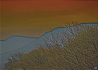 Delightful View Mixed Media - Mountain Ridge Glow by Debra     Vatalaro