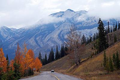 Rainy Day Photograph - Mountain Road by Larry Ricker