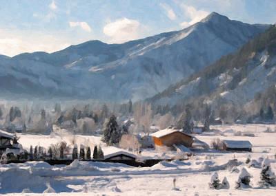 Mountain Snowscape Print by Danny Smythe